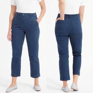 Everlane Straight Leg Crop Pants - Navy Size 4
